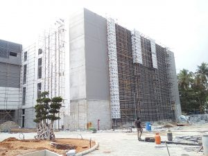 ACM panels installation